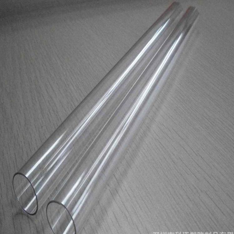 供应广东透明PVC拉管深圳PVC胶管透明包装管pvc硬管塑料管
