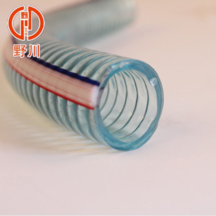 批发 透明PVC透明钢丝软管增强管 塑料水管油管水泵排水管