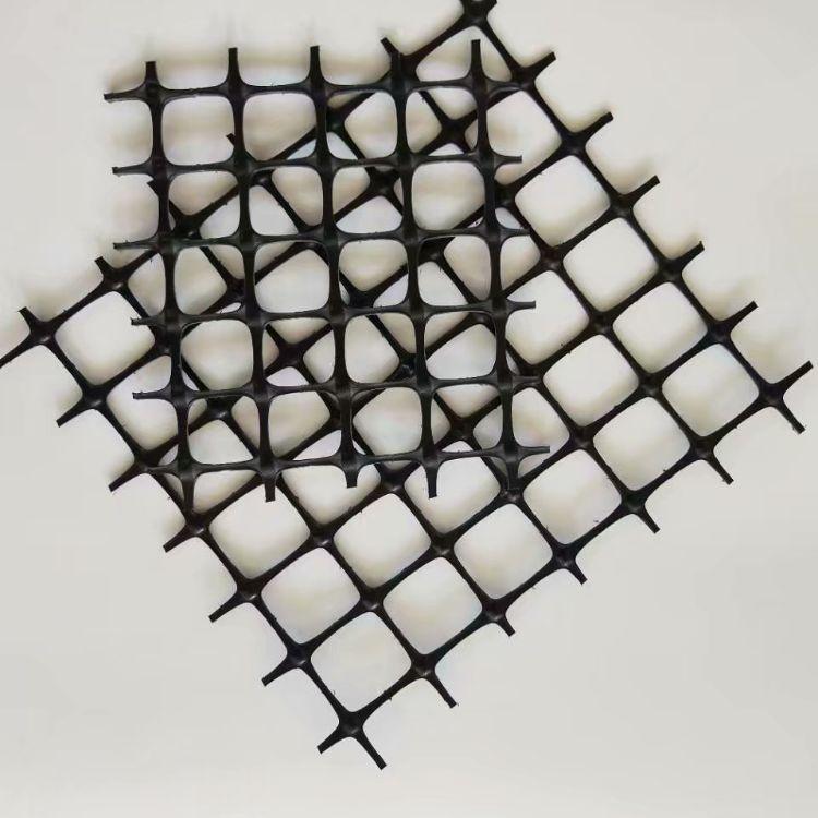 厂家直销标准双向塑料土工格栅超低价批量出货土工格栅 网孔2cm