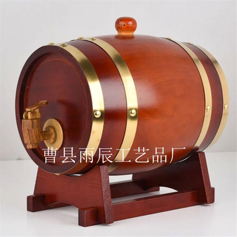 厂家供应酒庄酒吧用橡木松木制葡萄酒桶 3L红酒木桶 酿酒桶批发