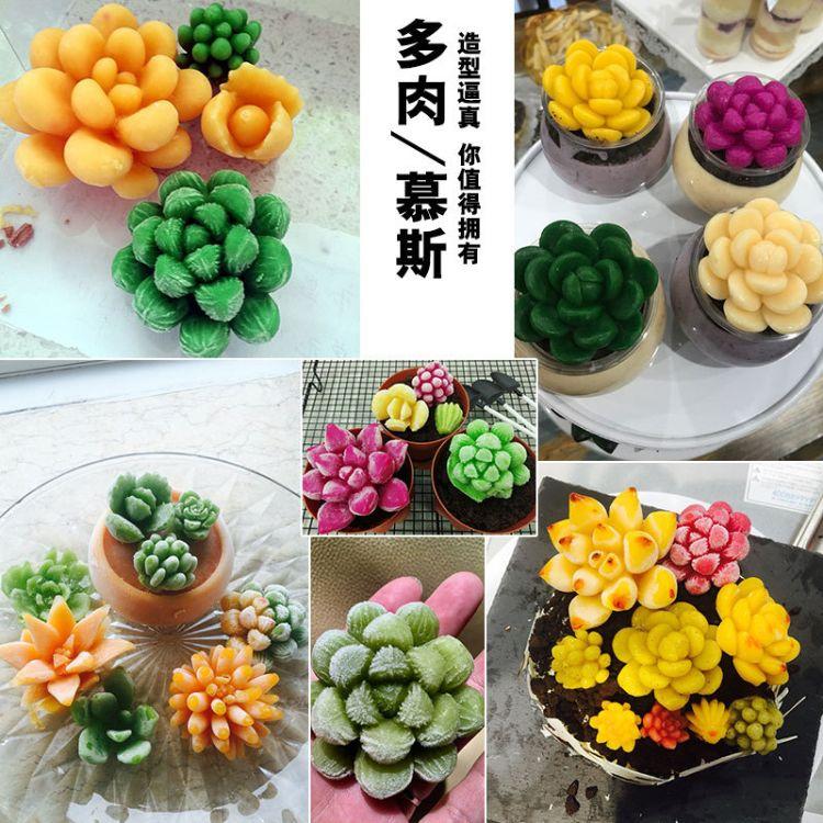 3D植物多肉慕斯模具 蛋糕装饰硅胶模具 果冻翻糖模具 巧克力模具