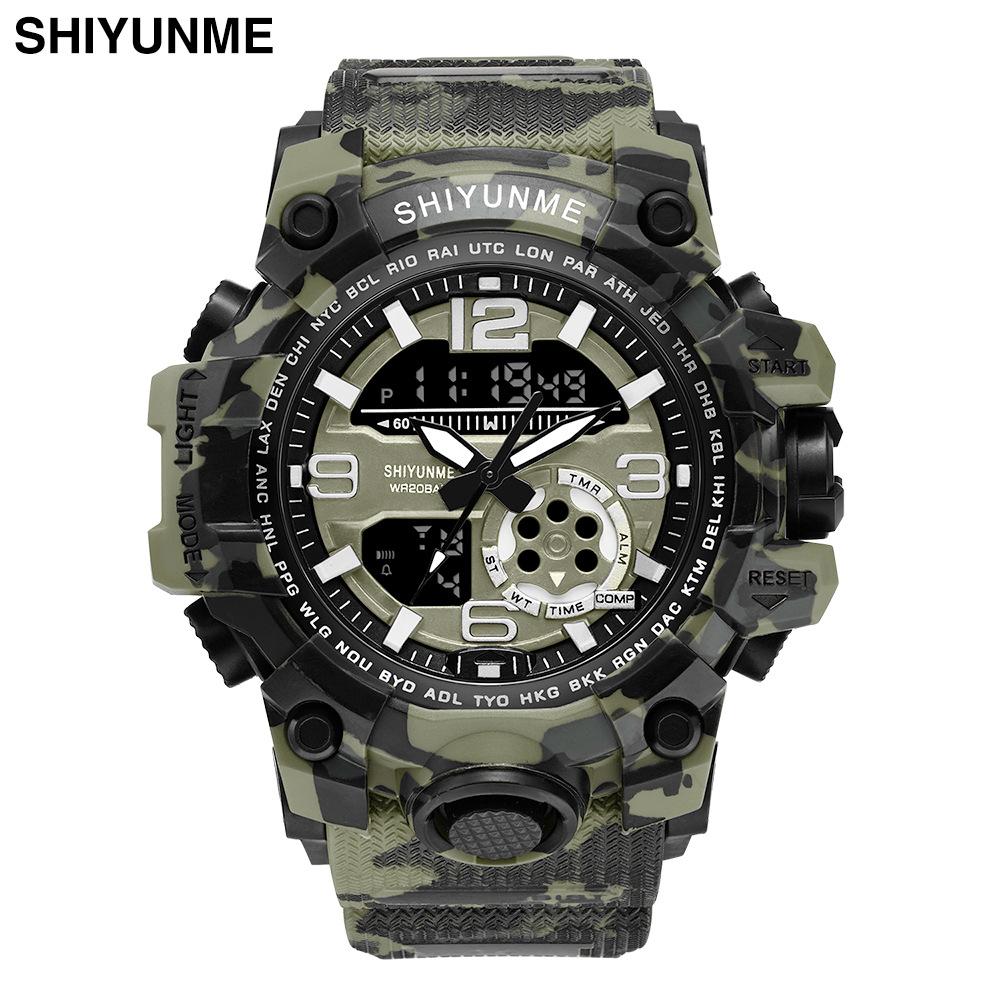 men sport watches brand dual display watch men LED digital a