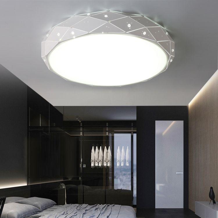 优好光led客厅灯卧室简约钻石吸顶灯灯圆形创意铁艺灯具灯饰批发