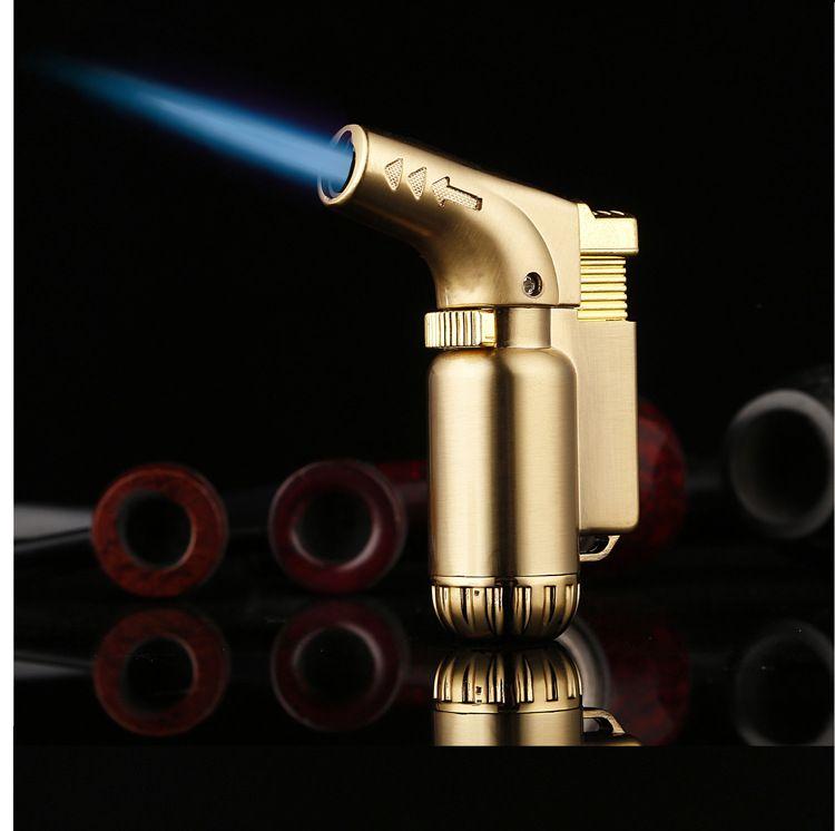防风创意新款全金属耐久弯头喷枪直冲打火机小焊枪高温喷火枪批发