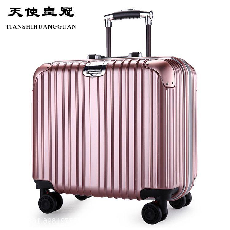 厂家直销天使皇冠铝框pc登机箱360度减震万向轮拉杆行李箱