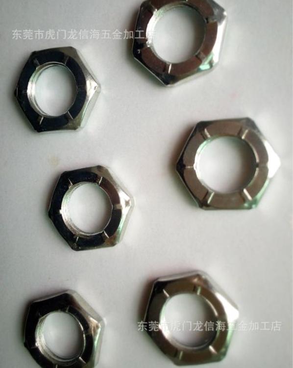 六角带齿螺母,表面处理度白锌,规格14M