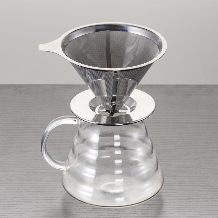 咖啡过滤网 不锈钢手冲咖啡壶免滤纸过滤网 滴漏式漏斗茶叶过滤杯