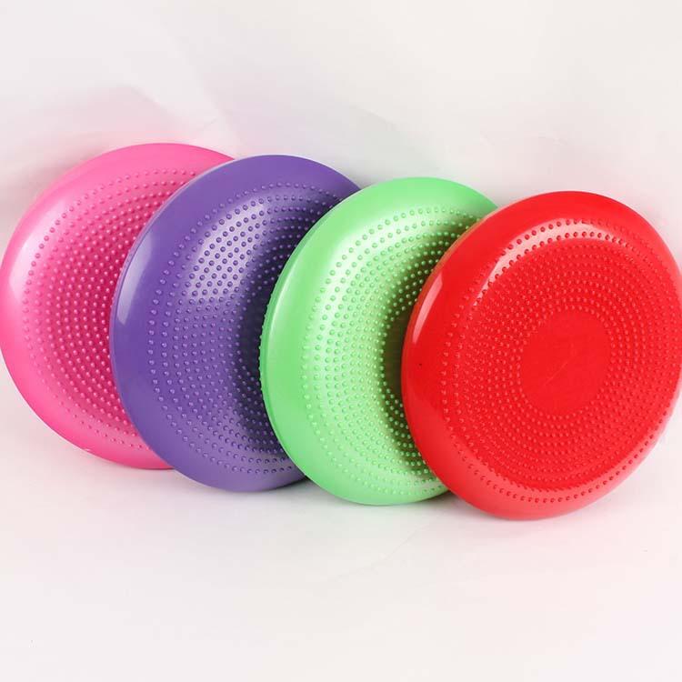 供应瑜伽按摩垫充气33cm 800g 瑜伽健身垫 瑜伽坐垫  平衡坐垫