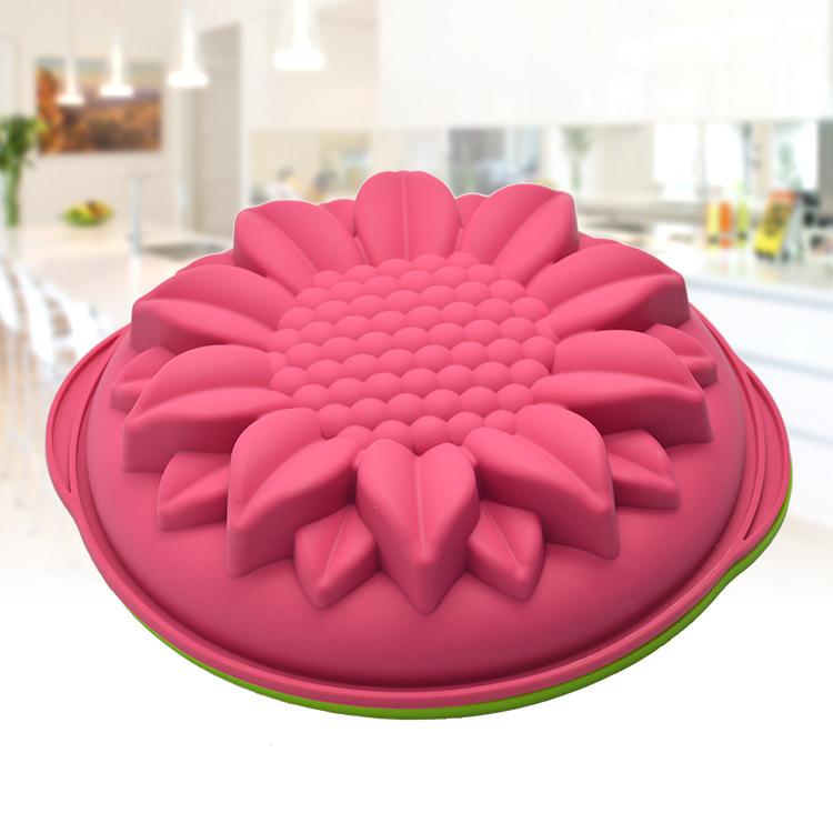 家庭硅胶烘焙模具 创意太阳花型烤箱蛋糕模具 厂家直销硅胶蛋糕模