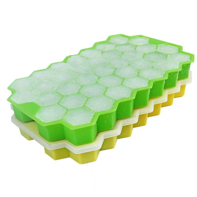 现货批发37格蜂窝冰格 蜂窝硅胶冰格模具 硅胶冰格可叠蜂窝模具