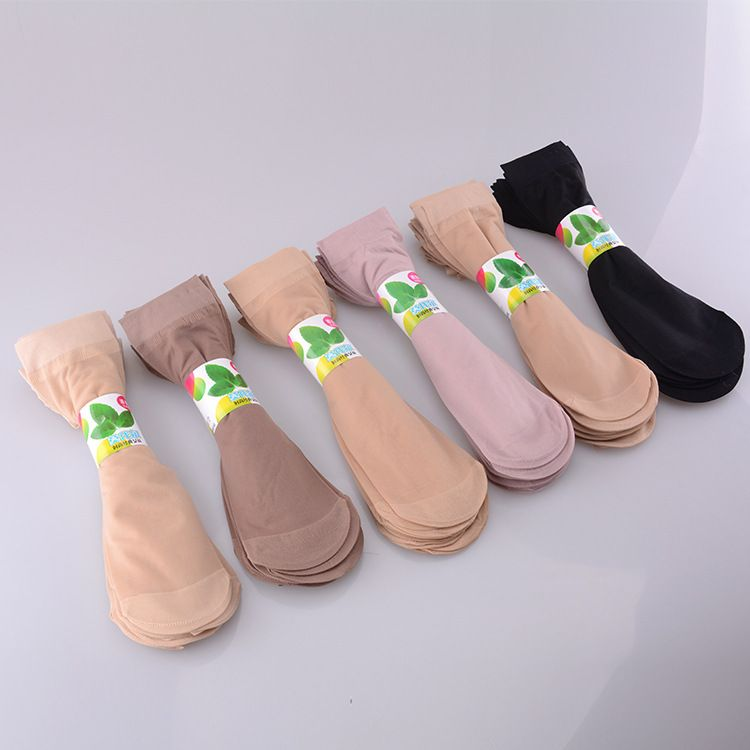 春夏薄款透气女丝袜短袜 防勾丝透明纯色莫代尔女士袜子厂家批发