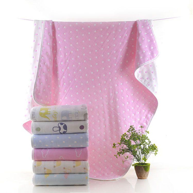 婴幼儿卡通提花童被 全棉柔软亲肤透气纱布抱被夏季宝宝空调盖毯