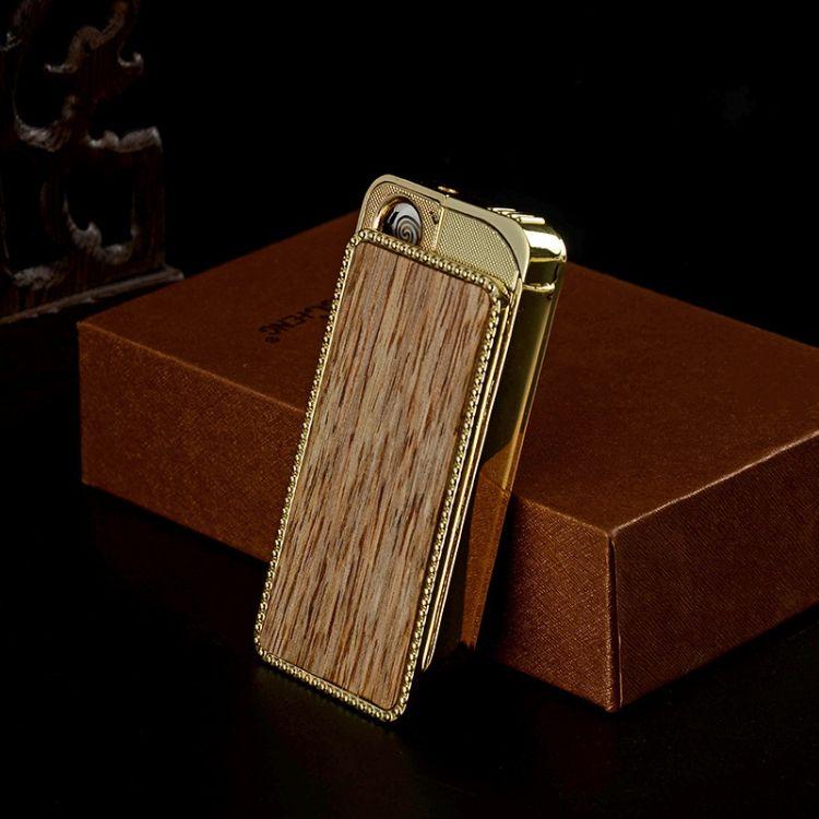 闽艺工艺打火机充电USB 沉香木创意个性礼品 木质工艺打火机批发