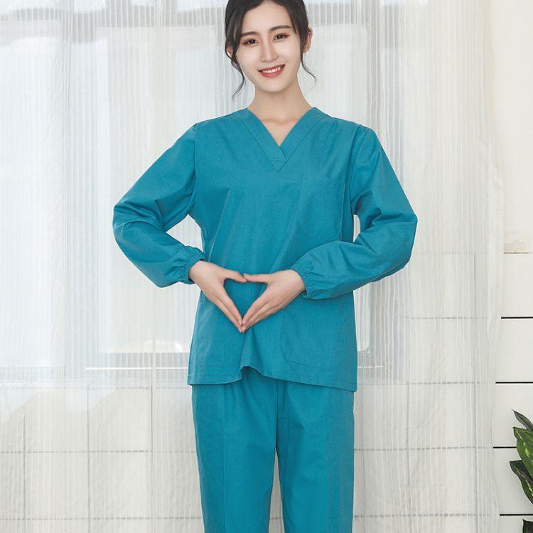 刷手服美容服工作套装 美容整形医院工作服装 洗手衣分体套装直销