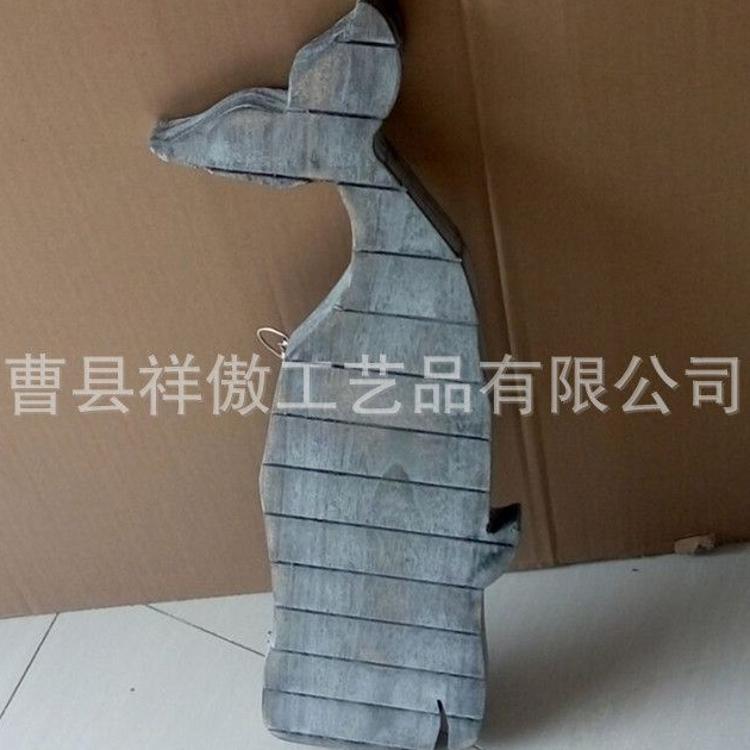 出口单品 创意鲨鱼造型木质摆件 复古墙壁挂饰 手工木质工艺品