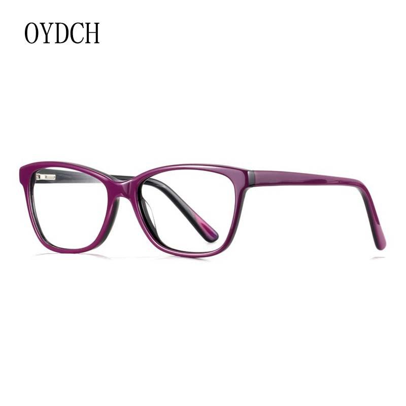 新款復古板材眼鏡框女式時尚光學眼鏡架女士韓版平光裝飾眼鏡近視