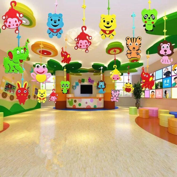 幼儿园装饰用品毛毡挂件 幼儿园教室走廊吊顶环境装饰立体挂件