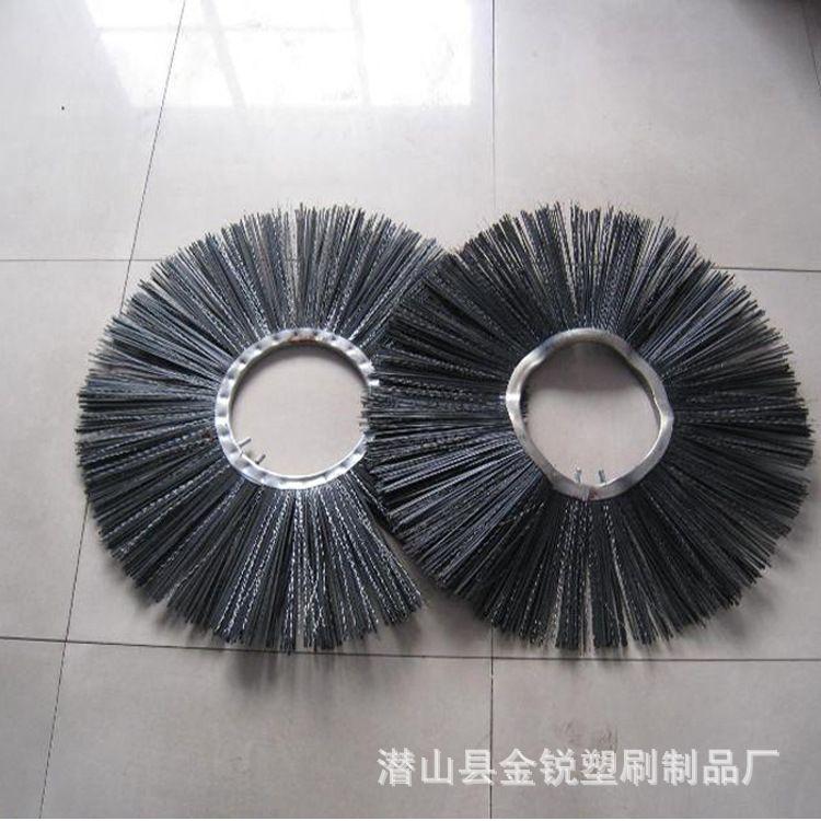 道路清扫车毛刷 扫雪刷片 尼龙钢丝组合刷片生产厂家定制环卫刷