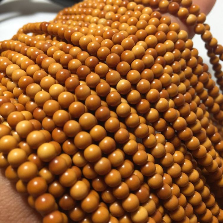 厂家批发橄榄核小圆珠正圆216颗 手串长串橄榄胡素串圆珠 核尖料