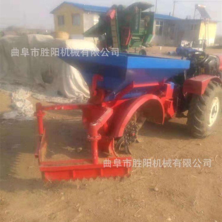 四轮拖拉机牵引式施肥机  后悬挂自动回填 大型果园开沟施肥机
