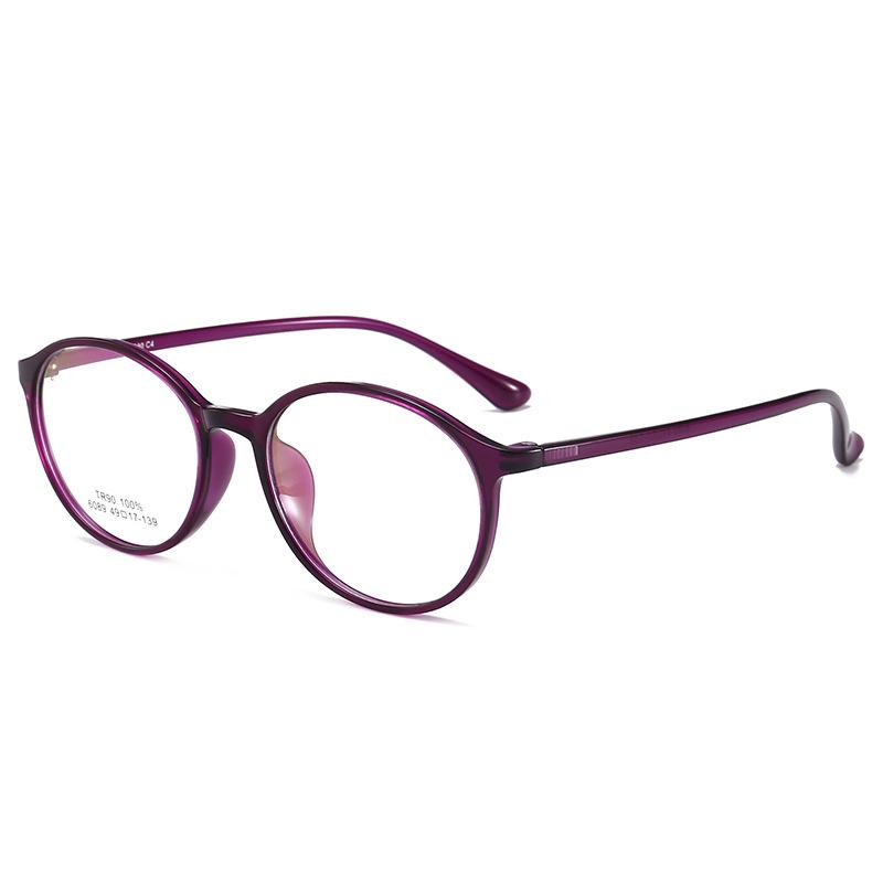 2018新款文艺简约框架眼镜 方形眼镜框 TR90光学眼镜架6089