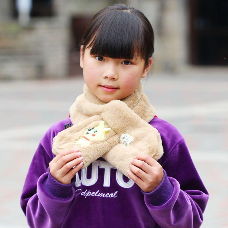 2018款圍巾韓國 卡通趴趴熊兒童圍脖 加厚秋冬保暖脖套 義烏圍巾