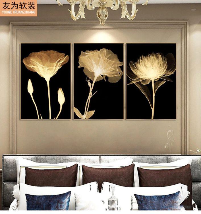 现代客厅装饰画 高端品质无框画 三联水晶高密度墙壁挂画厂家直销