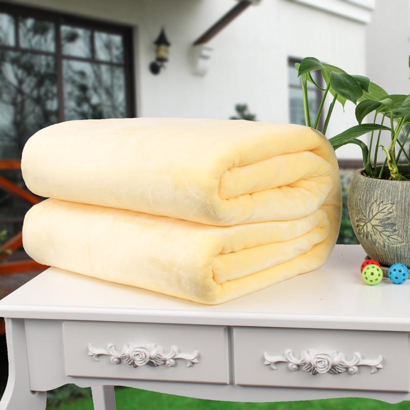 纯色毛毯网吧影院教室办公室盖膝盖腿毯珊瑚绒小毯子100*150CM