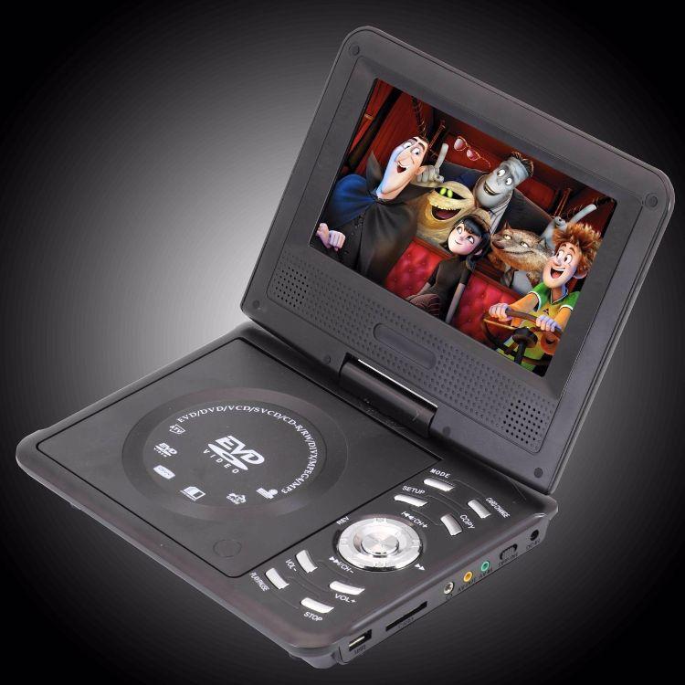 7实屏英文版便携式DVD机移动PDVD影碟播放机小学生学习机一件代