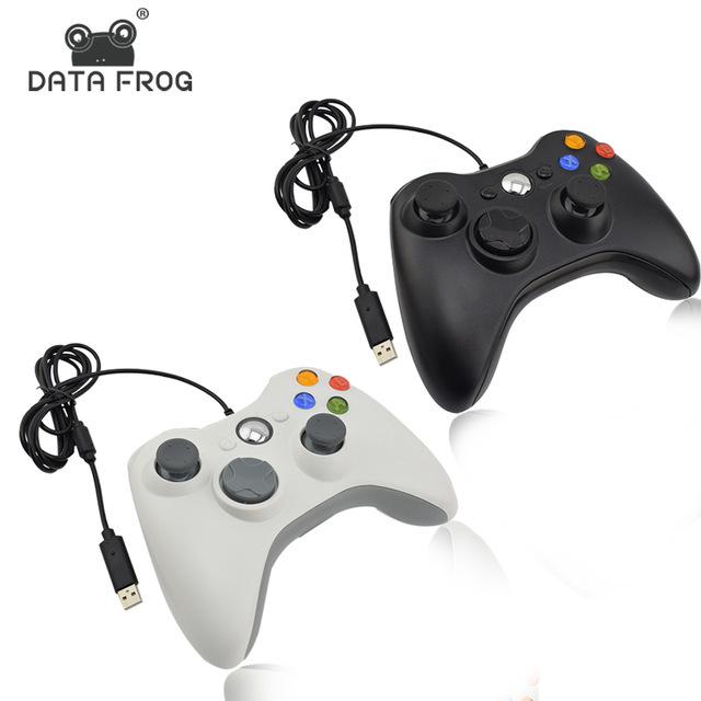 DATA FROG Xbox360外形PC单用有线游戏手柄  USB有线PC端游戏手柄