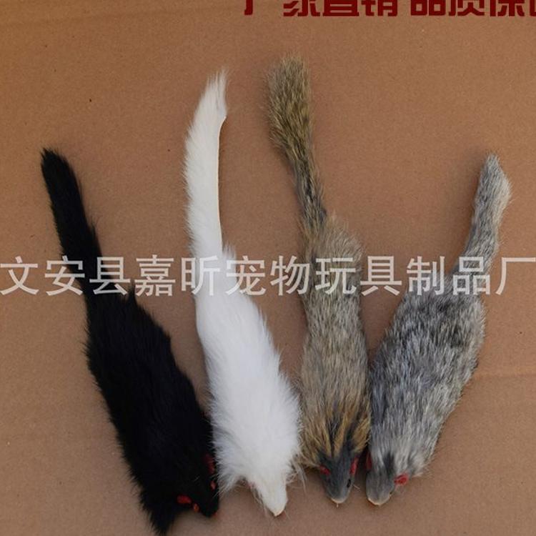 工厂热销 宠物玩具 电动皮毛老鼠 兔皮宠物玩具 电动逗猫玩具