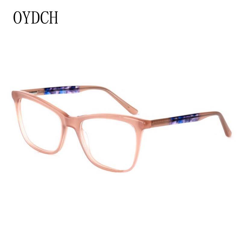 新款時尚靚麗超輕板材眼鏡架光學近視鏡女款平光裝飾眼鏡框
