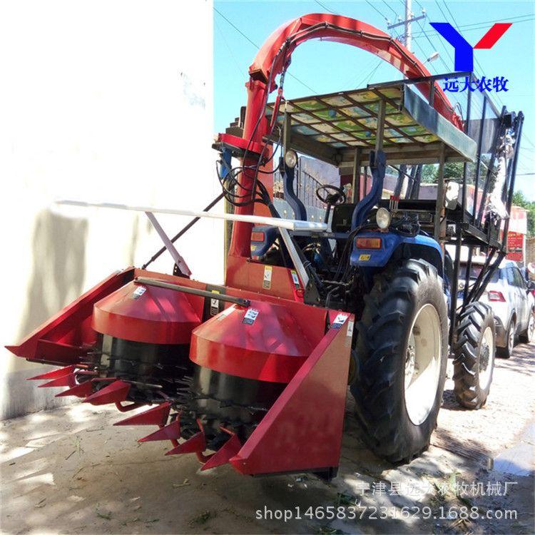 皇竹甜象王草小地块青贮牧草割草机 30-70马力拖拉机安装青储割台