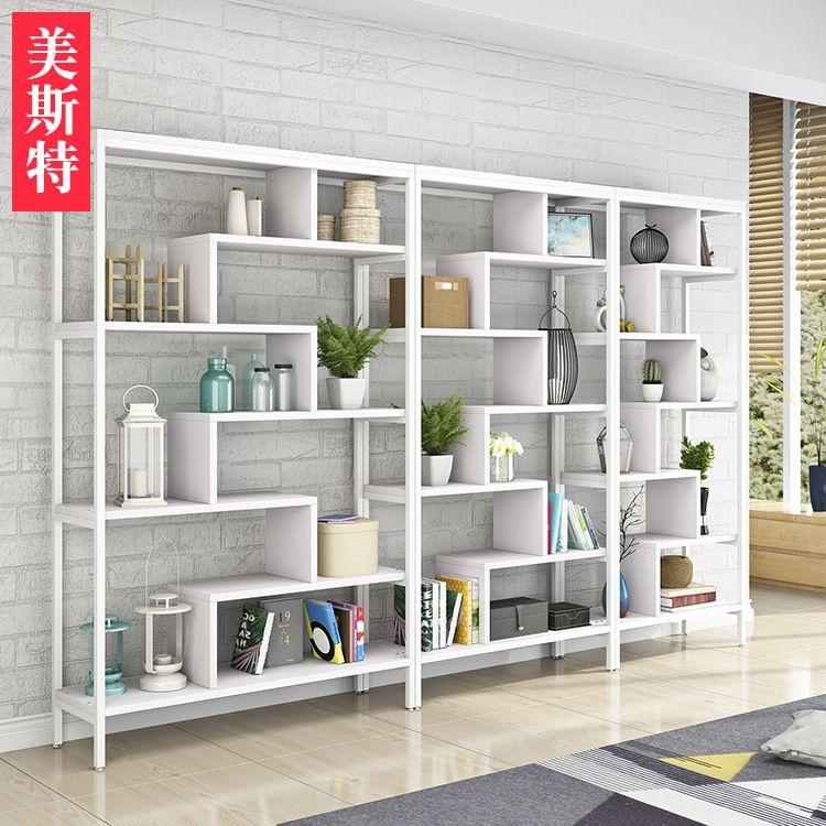 厂家直销现代简约书架 隔断办公室多层置物架 定制客厅家具