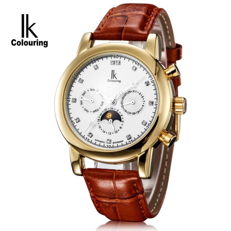 特價IK阿帕琦全自動機械表 男士手表多功能時尚男表腕表98125G