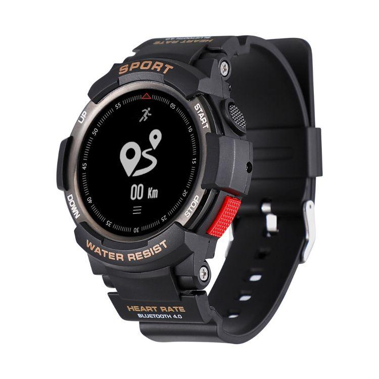 新款F6多功能彩屏智能手环心率运动计步蓝牙定位运动多功能手表