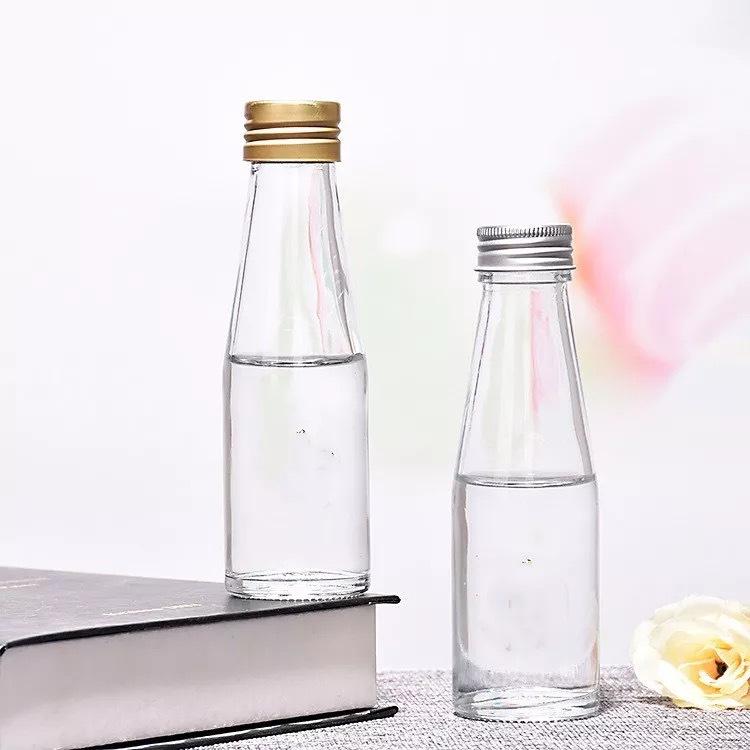 厂家直销100ml玻璃燕窝瓶无铅玻璃即食燕窝瓶铝盖酸奶瓶果汁瓶