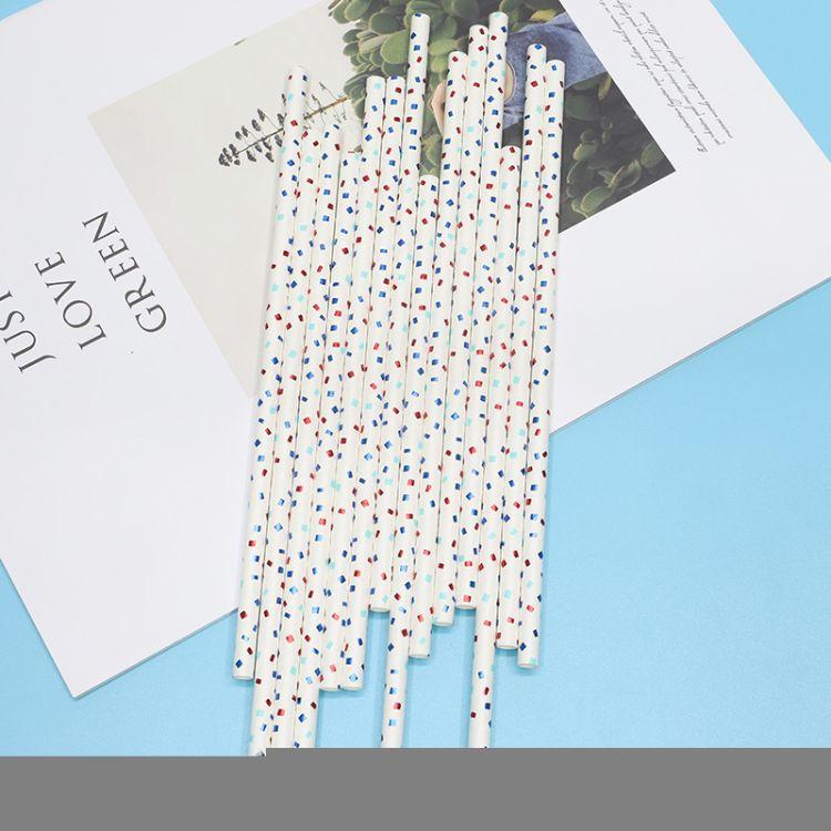 义乌厂家直销一次性环保彩色派对节日装饰饮料奶茶创意纸质吸管