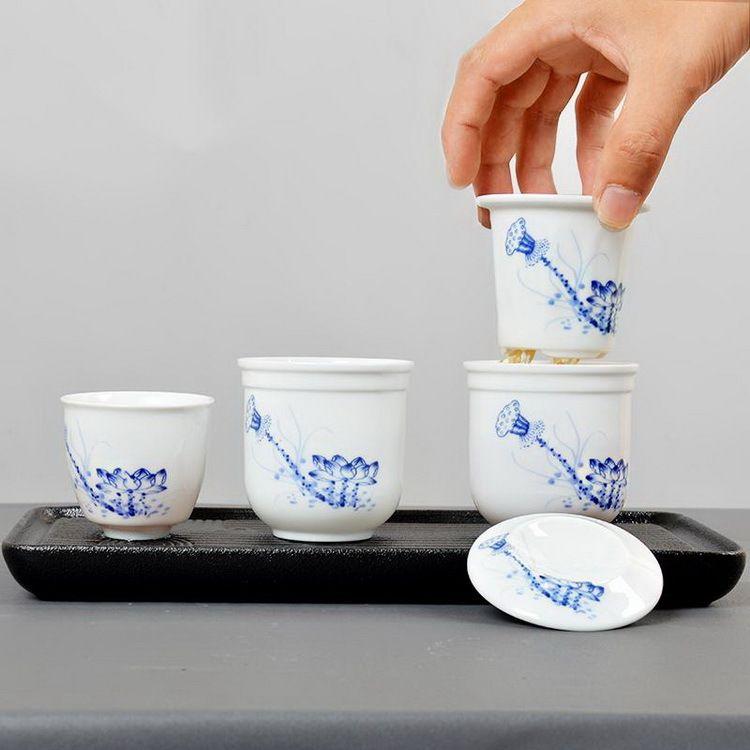 套杯茶具旅游旅行茶具套装方便携带泡茶具户外功夫茶具青花瓷茶具