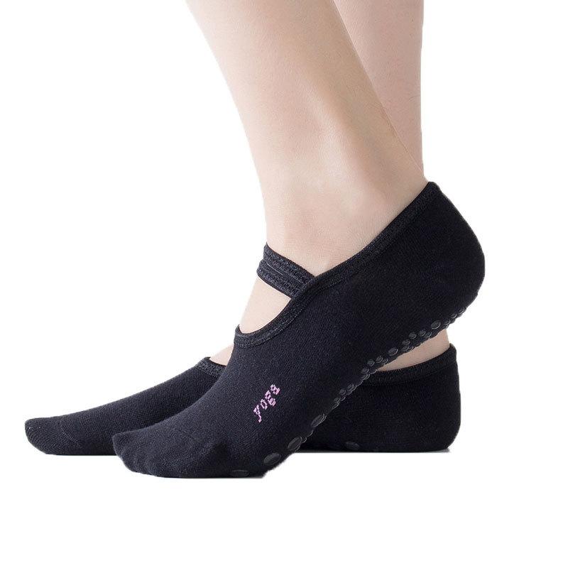 秋冬新款防滑瑜伽袜女露背瑜珈袜地板袜芭蕾袜瑜伽用品五指袜