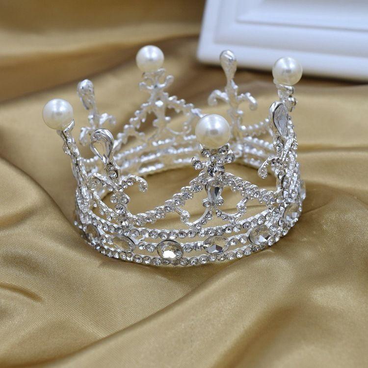 新娘皇冠高档水晶椭圆小皇冠韩式新款儿童皇冠 新娘结婚饰品