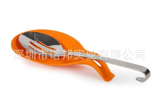 食品级硅胶厨具托盘 优质硅胶勺子底座筷子垫 硅胶餐具厨具工具