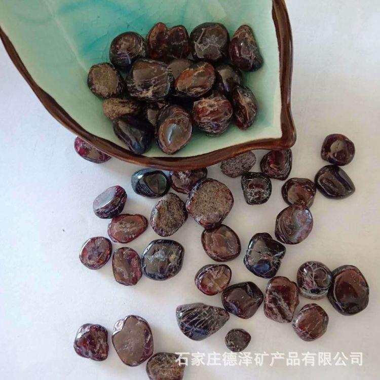 厂家批发 天然石榴红 水晶碎石 原石 消磁石