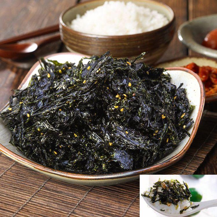 芝麻寿司海苔碎批发即食芝麻海苔 零食拌饭紫菜芝麻炒海苔200g