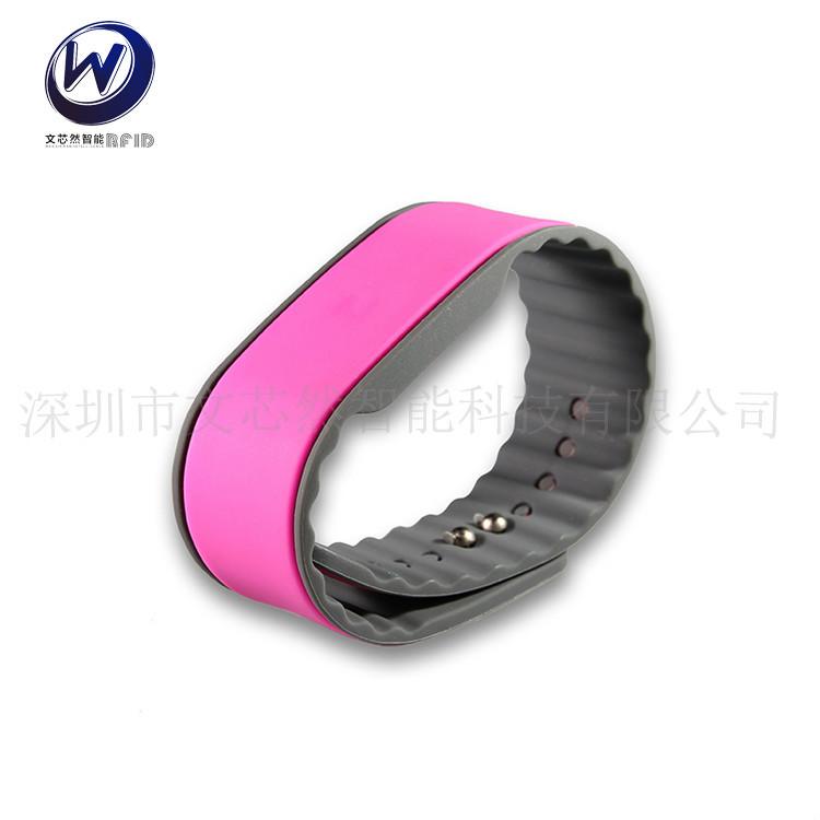复旦F08高频产品发布会专用手环rfid硅胶手腕带nfc硅胶手腕带