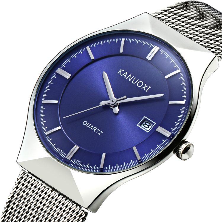 双11亏本引流-爆款时尚超薄男士手表批发精钢网带防水石英手表