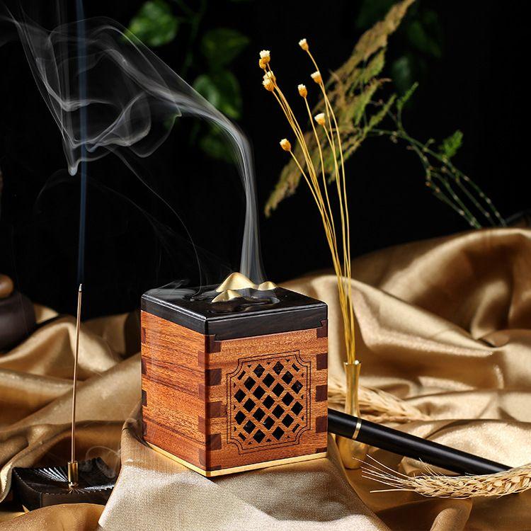 香插音乐盒定制 坊巷香城非洲酸枝红木音乐盒卧室办公室佛性摆件