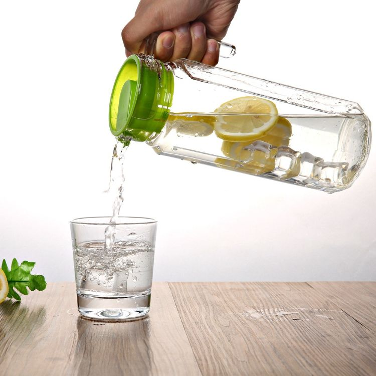 批发玻璃水壶透明带盖凉水壶厨房油壶家用加厚果汁壶扎壶水具套装