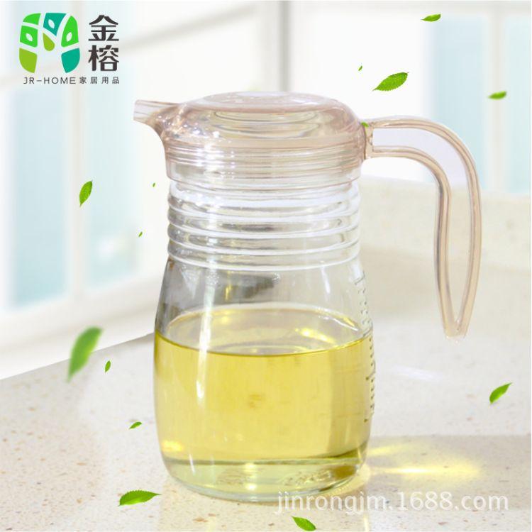 金榕玻璃油壶大容量调味瓶按压式控油壶调味油瓶醋瓶B7822 B7981A