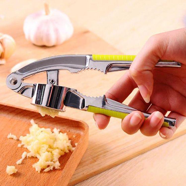 厨房多功能不锈钢捣蒜压蒜器 手动 蒜蓉蒜泥姜蒜器 核桃夹